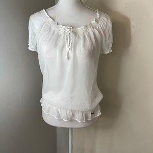 Holister peasant blouse SZ large NWT